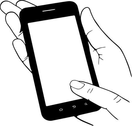 Handy in der Hand Vektorgrafik