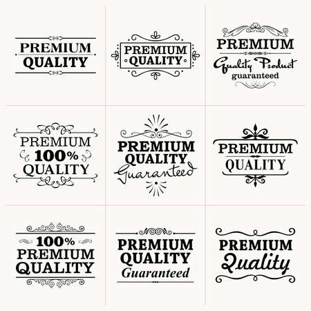 label frame: Premium Quality collection