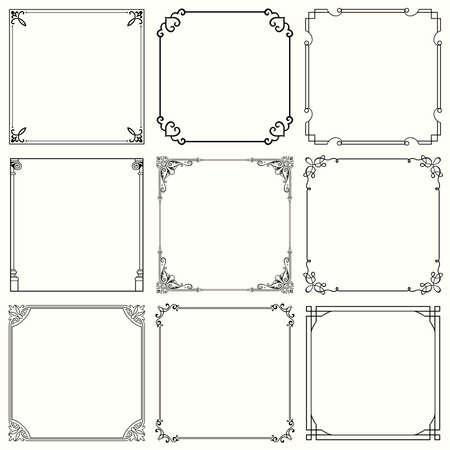 装飾的なフレームの設定 32  イラスト・ベクター素材