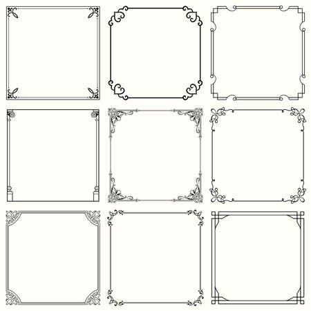 ink art: Decorative frames  set 32