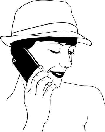 Woman speaking on the mobile phone Stock Vector - 16779885