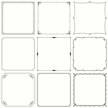 Decorative frames  set 33  Illustration
