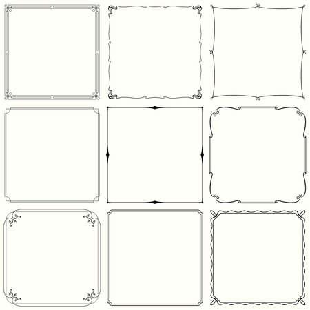 Decorative frames  set 33  Çizim