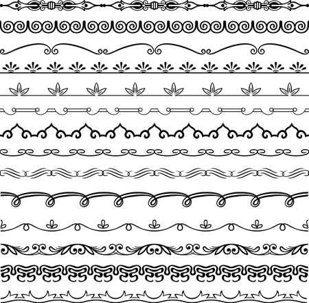 Design horizontal elements Stock Vector - 16779906