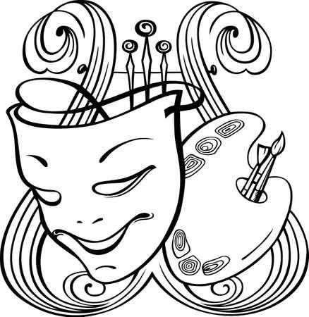 mascara de teatro: Las formas de arte y los símbolos