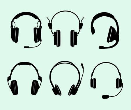 headphones: Set of headphones
