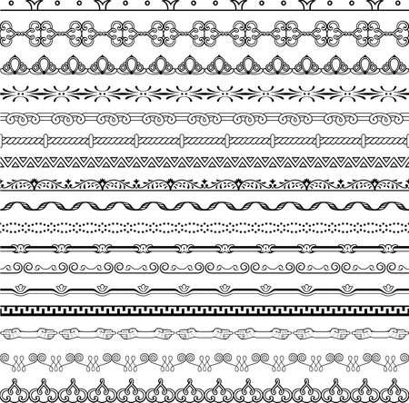 Design horizontal elements Stock Vector - 16779963