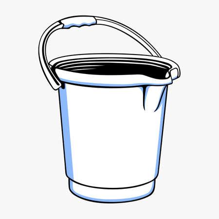 seau d eau: Seau Illustration
