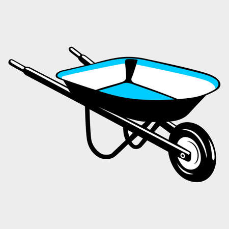 barrow: Wheelbarrow Illustration