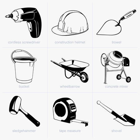 trowel: Construction tools Illustration