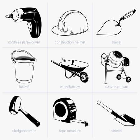 trowels: Construction tools Illustration