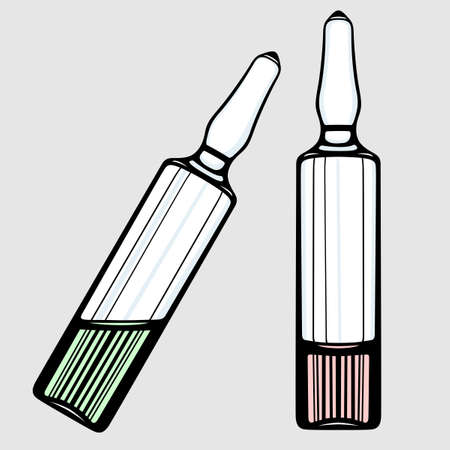 ampulla: Ampoules Illustration