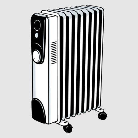 Electric heater Stock Vector - 16901370