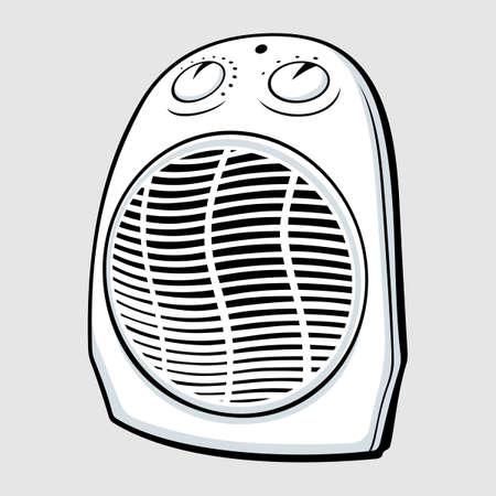 electrical appliances: Fan heater