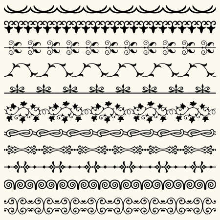 Design horizontal elements Stock Vector - 16921593
