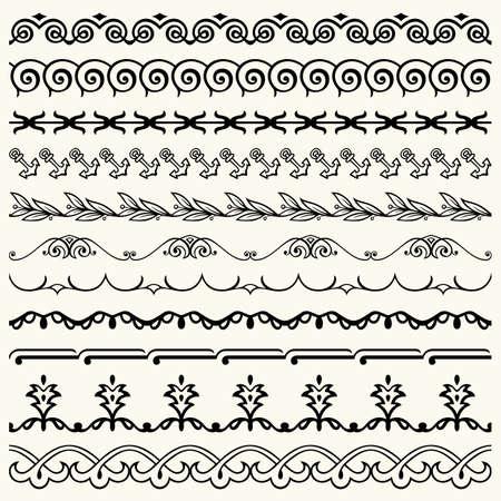 Design horizontal elements Stock Vector - 17188190