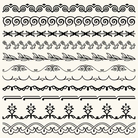 Design horizontal elements Stock Vector - 17188190