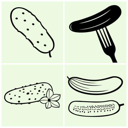 cucumber slice: Cucumbers
