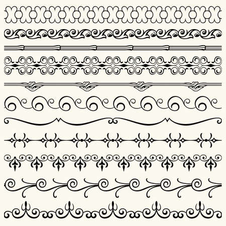 Design horizontal elements Stock Vector - 17266036