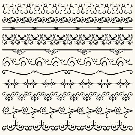 Design horizontal elements Stock Vector - 17266036
