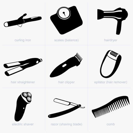 hairdryer: Hygiene items Illustration