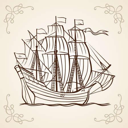 rope ladder: Sailboat frame