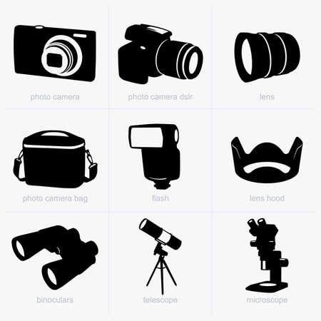 kijker: Optische apparaten Stock Illustratie