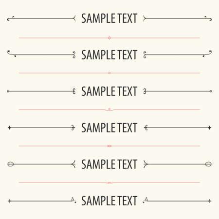 Dividers and frames for website and other design Illustration