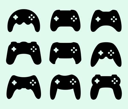 gamepads: Gamepads silhouettes