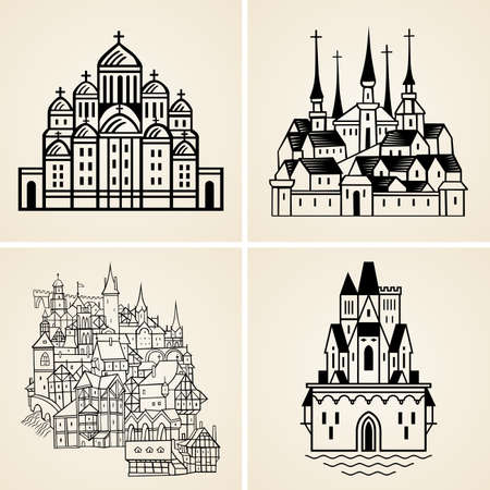 Old cities Vector