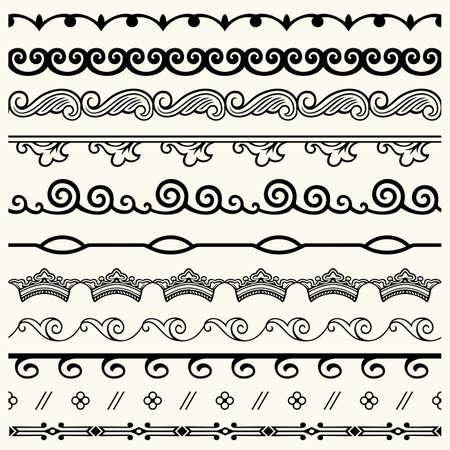 horizontal bar: Design horizontal elements Illustration