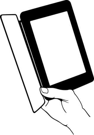 ebook reader: E-book reader in the hand