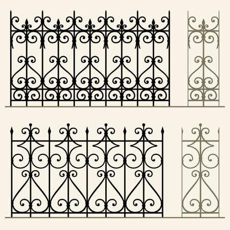 puertas de hierro: Barandillas y vallas modulares de hierro forjado