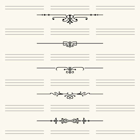 Dividers for website and other design Çizim