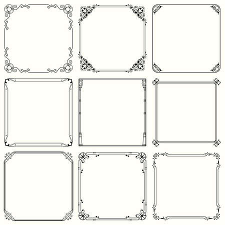 Decorative frames  set 43