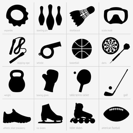 Sports equipments Vector