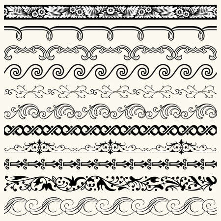 medieval scroll:  Design horizontal elements