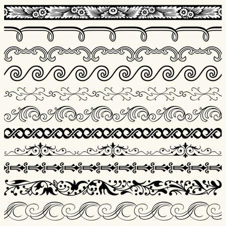 Design horizontal elements Stock Vector - 18084997