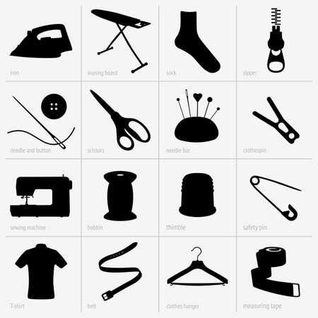 maquinas de coser: Costura conjunto Vectores