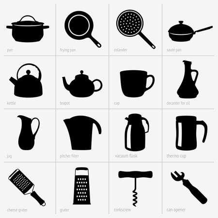 Keukengerei Vector Illustratie