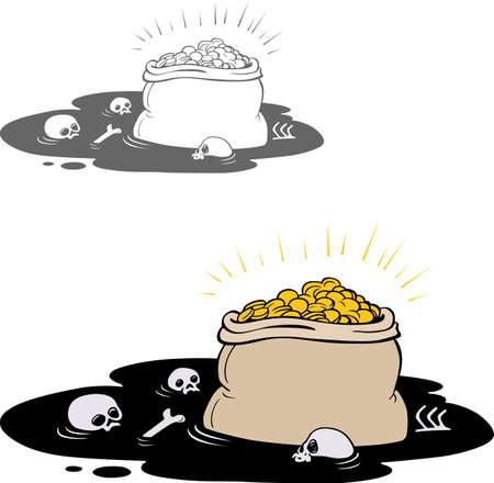 crushing: Treasure sacks full of golden coins