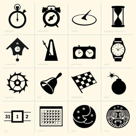 reloj cucu: Conjunto de objetos de tiempo
