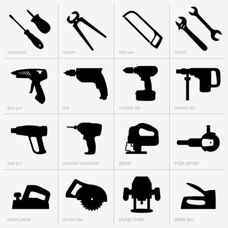 Set van industriële gereedschappen Vector Illustratie