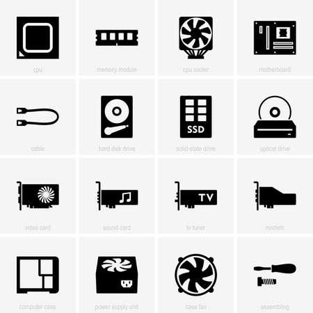Set di componenti di computer icone