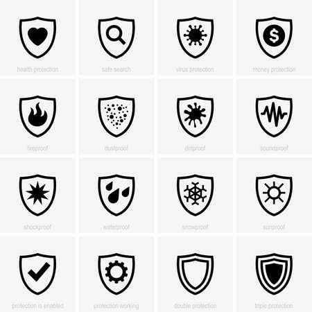Set van bescherming iconen