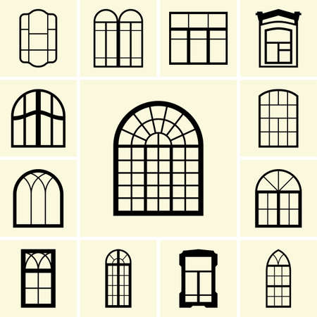 interior window: Set of window icons
