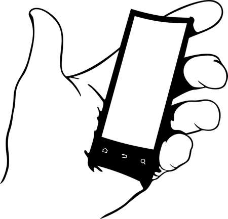 Flexible phone in the hand Vector