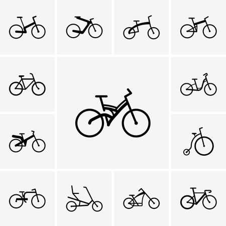 Set of bike icons