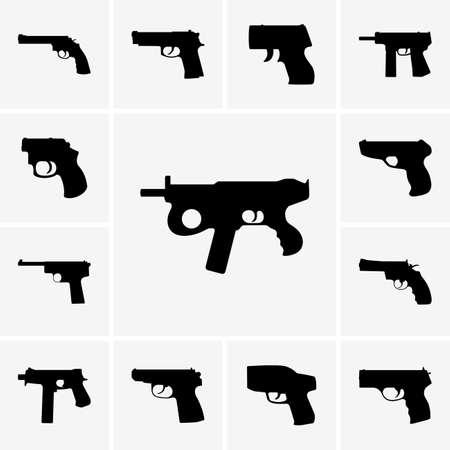 pistol gun: Set of pistol icons