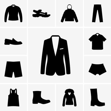 underpants: Set of man clothers icons